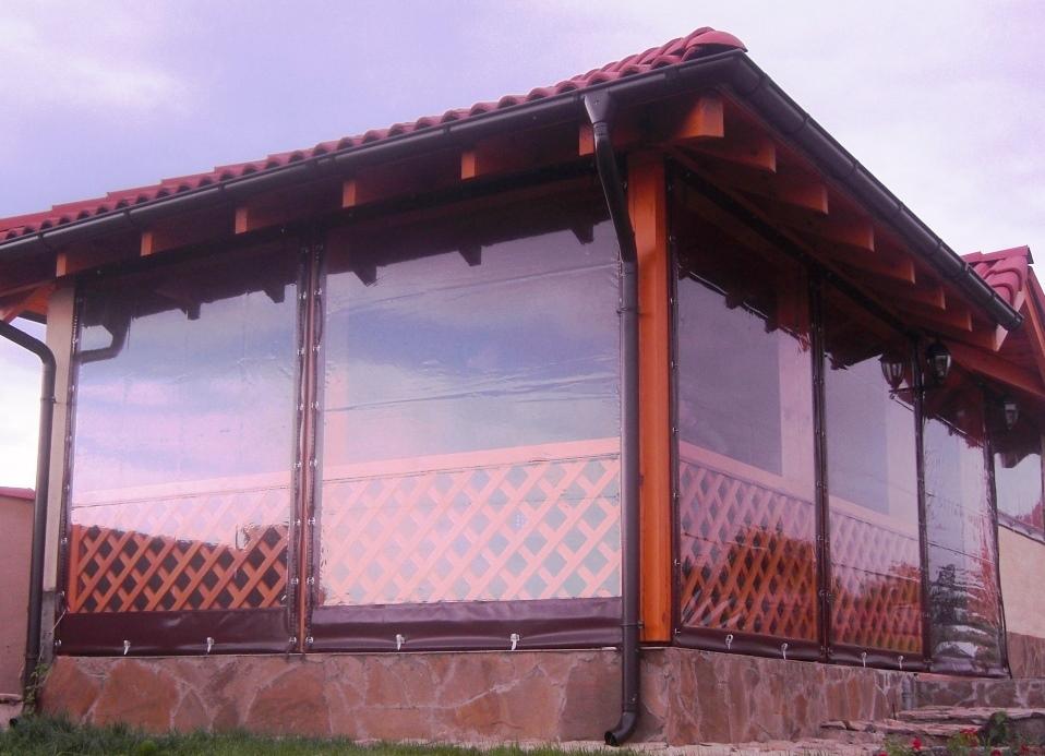 Прозрачные шторы ПВХ для утепления веранд, беседок, террас купить в Купить
