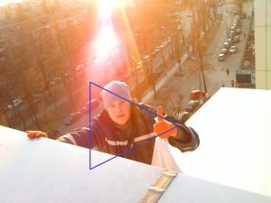 Перекрытие крыши Портер Паб прозрачным тентом