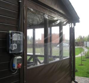 Изготовить мягкие окна для террасы